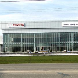 Автосалон Toyota стекло Sunergy
